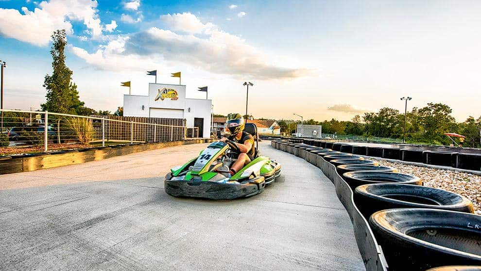 Xtreme Racing Center's smooth paved track will help you zoom faster than ever