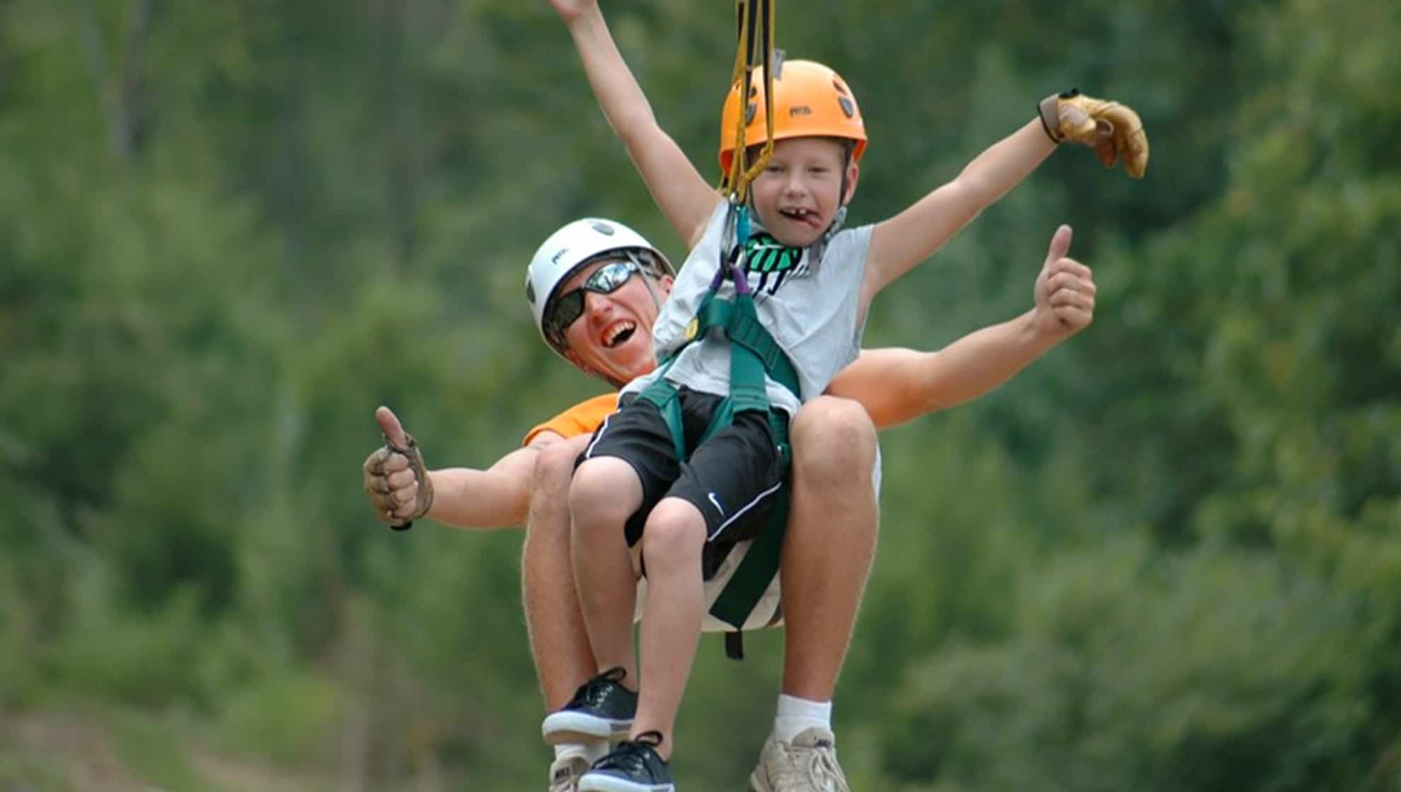 Zip tandem at adventure park ziplines